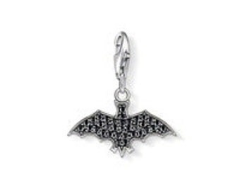 sterling silver charm bead animal bat