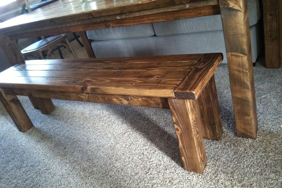 farmhouse table style bench rustic bench farm bench