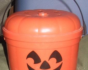 1980's Plastic Mc Donald's Halloween Bucket