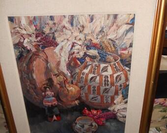 Vintage Southwestern Oil Painting/ Sedona Arizona Artist