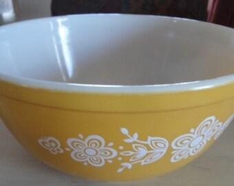 Vintage Gold Pyrex Butterfly Bowl