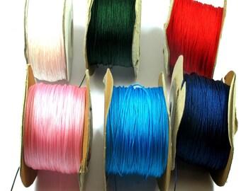 10meters Nylon Cord,Braided Cord,Macrame Shamballa Bracelet String 0.5mm Pink,Light Blue,Blue,Red,White 0.5mm
