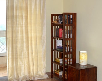 Ivory Colored Silk Drapes in Rich Raw Silk / Dupioni Silk