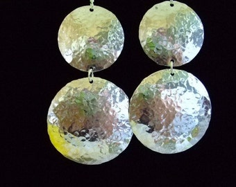 Dome earrings. Extra large, flashy; sophisticated, yet light weight earrings!