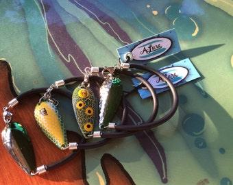 It ain't easy being GREEN!  Men's Fishing LURE Bracelets!  Fun & Comfortable!