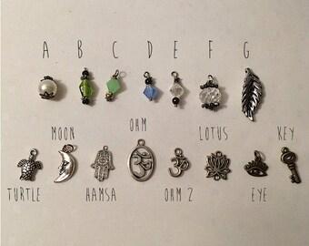 Custom Hemp Choker With Charm, Choose From 25 Colors, Natural, Hemp Jewelry, Hemp Necklace