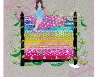 Poster PRINT 'The Princess and the Pea' 460x460mm