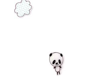 poppy panda - blank card - just to say card - handmade card