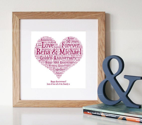Unusual 10th Wedding Anniversary Gifts : ... ArtGolden Wedding Anniversary Gift50th Anniversary Gift