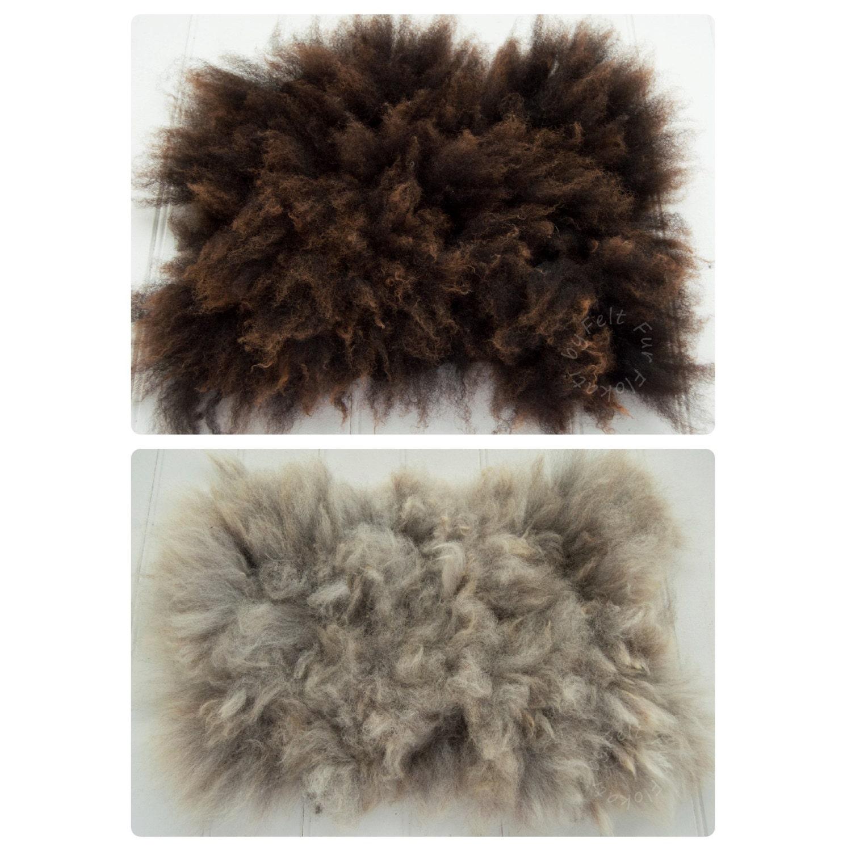 Mini Flokati Fur Rug Flokati Mini Felt Fur Rug Mat By FeltFur