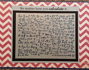 physics equation math birthday card