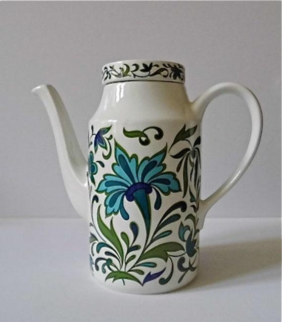 Coffee Pot Meaning In Spanish : Midwinter Spanish Garden Coffee Pot by MichaelmasDaisy on Etsy
