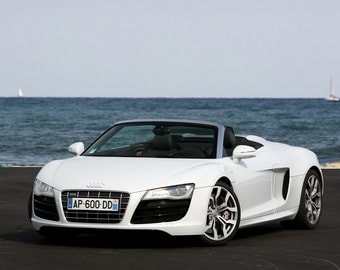 Poster of Audi R8 White Spider HD Print