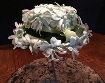 Beautiful Vintage Floral Hat