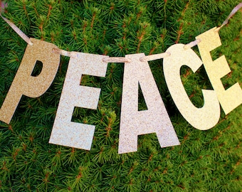 Peace, Photo-Prop, Banner, Christmas, Holiday
