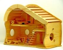 handmade wooden dollhouse - χειροποίητο ξύλινο κουκλόσπιτο
