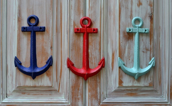 Vintage Anchor Wall Decor : Cast iron anchor wall decorvintage style by thewoodpaperstudio