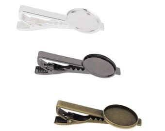 20pcs 20mm Round blank Tie Clip, Tie Clip Supply, Tie Clip Blank Settings,TieTack Blanks (3010396)