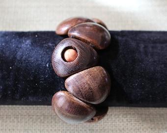 Wooden bracelet .