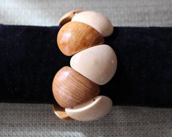 wooden jewelry- multicolor bracelet