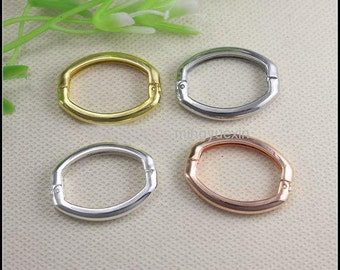 20pcs Smooth Metal Necklace Shortener Clasps 27x20mm jewelry findings