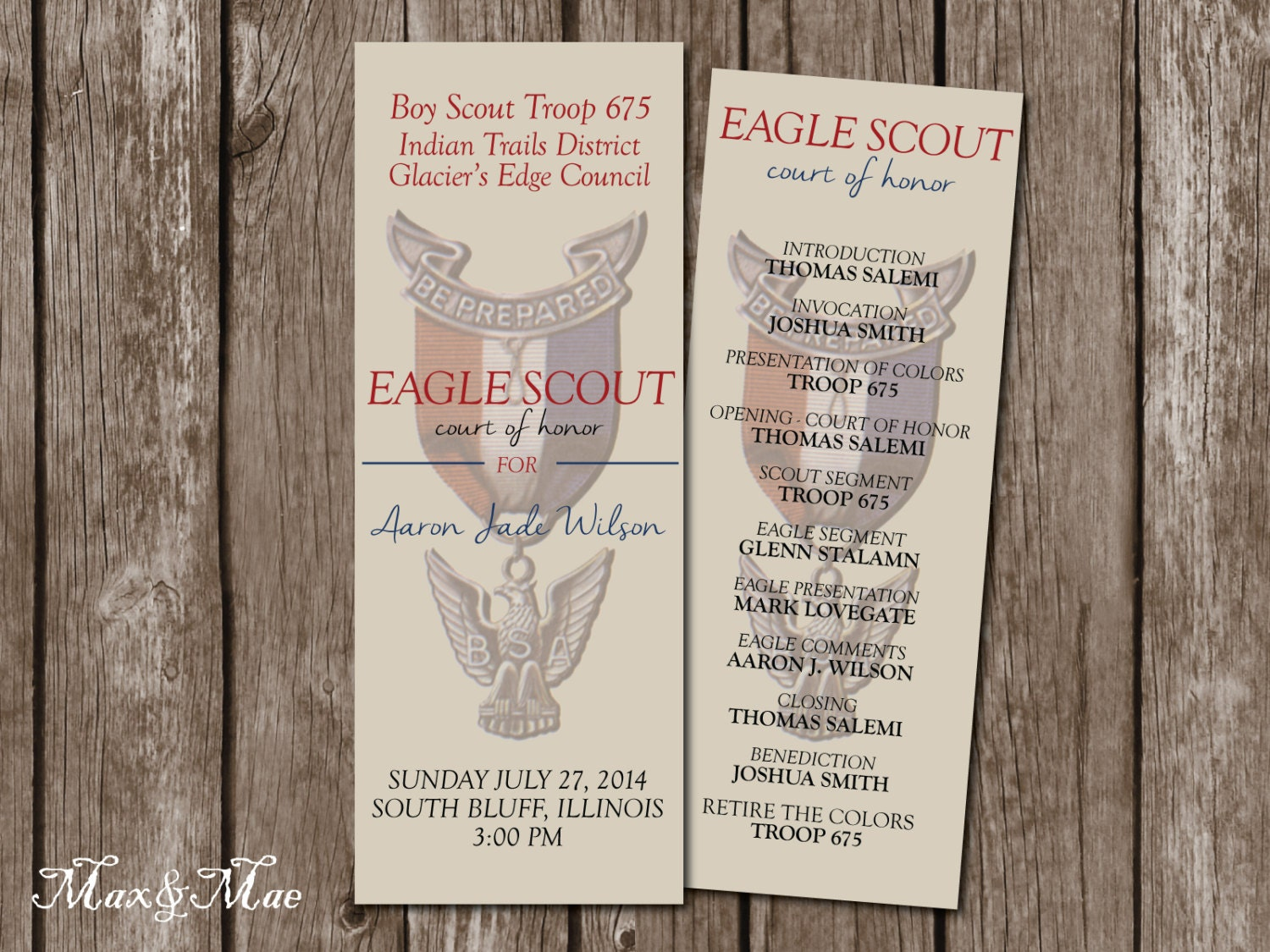 Eagle scout program court of honor eagle scout water bottle for Eagle scout court of honor program template