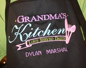 Grandmas Kitchen Apron | Personalized Grandma Gift | Grandchildren's Names for Grandma | Personalized by her Grandchildren!