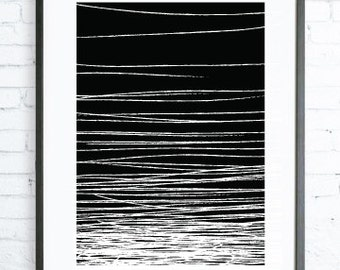 Minimalist Home Decor,Black Wall Art, Abstract Print Art, Abstract Art Print, Black White art, modern art, digital art, Print, black & white