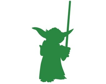 Yoda Silhouette Paper Ephemera Cut Out Art - Any Color ...