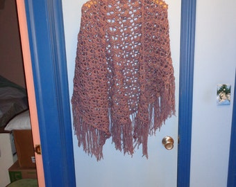 Purple sparkle shawl