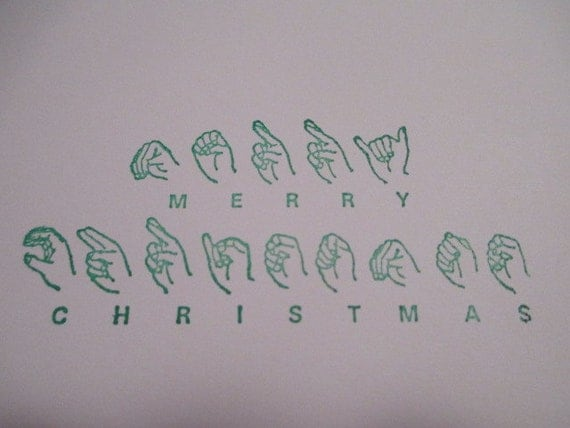 Sign Language Merry Christmas Lights Card