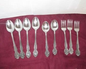 Vintage Wimco International Stainless Flatware - Set of 9 - Korea - Silverware - Forks - Spoons