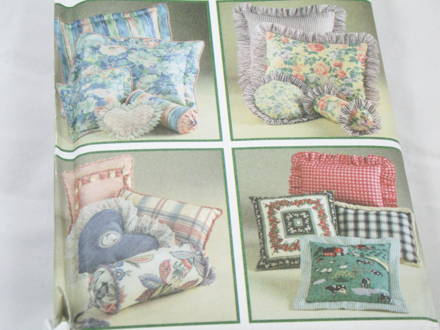 Throw Pillow Sewing Patterns : Pillows Sewing Pattern Sofa Pillow Neck Roll Small Hearth