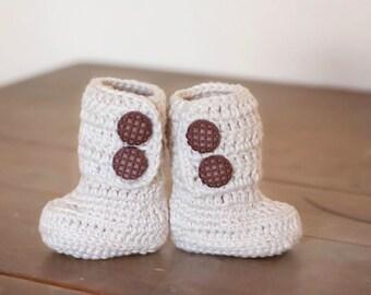 Handmade, Crocheted Baby Boots, Classic