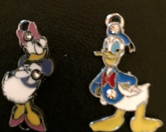Donald and Daisy Duck Charms (Lot 2 Charms)