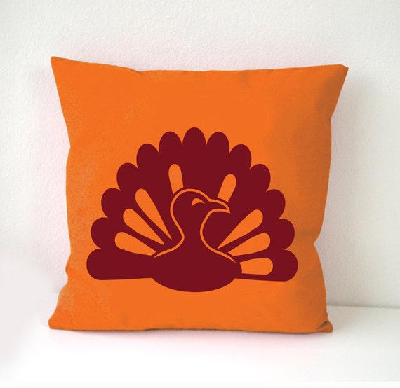 Thanksgiving pillow Cover turkey pillow cover orange pillow