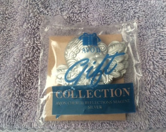 Vintage Avon Cherub Reflections Magnet Silver from The Gift Collection New in Plastic