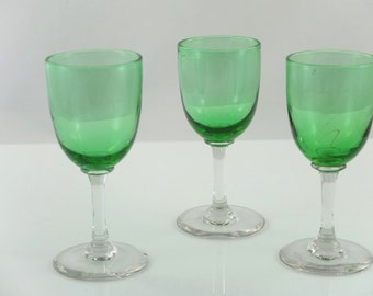 Three antique portglasses