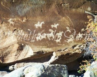 """Petroglyphs """"Ancient Etchings"""" - Fine art print Home decor"""