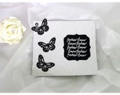 To share wedding Butterfly black and white