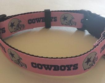 Pink Dallas Cowboy Dog Collar