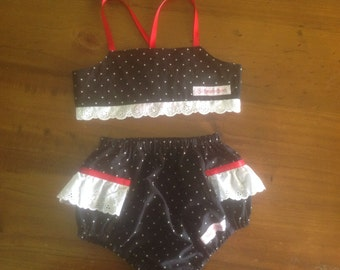 Black Cherry Bikini Set