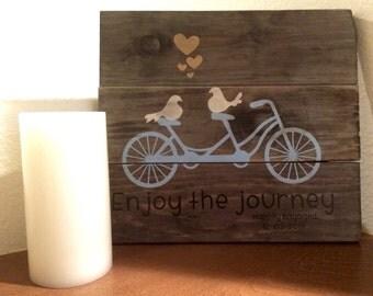 Rustic Tandem Bicycle Sign