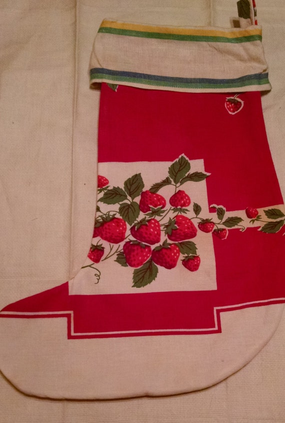 SALE!!!  Vintage Fabric Christmas Stocking  was 20 now 14  SALE!!!!