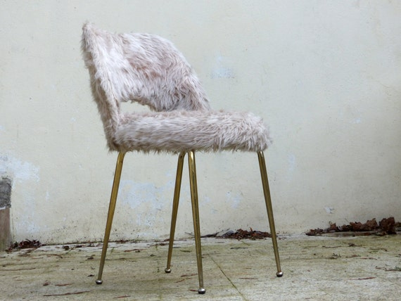 chaise cocktail vintage moumoute. Black Bedroom Furniture Sets. Home Design Ideas