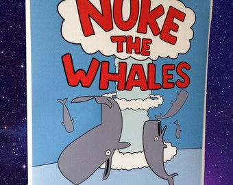 Nuke the Whales Simpsons Poster