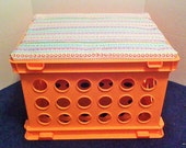 Storage Bench with Padded, Removable Seat- Colorful and Sturdy for Child or Teen