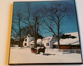 Christmas record album set