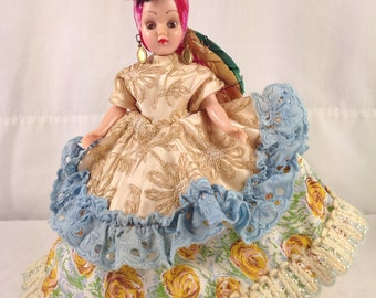 Chiquita Doll Calypso  ~ Vintage Original Chiquita Doll from 1960's ~ TV or Movie Prop ~ Island Doll ~ Coastal Beach Side Doll