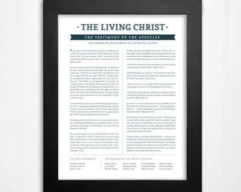 The Living Christ (print only) - Testimony of the Apostles - Jesus Christ - LDS Wall Art Print, Home Decor - 8x10, 11x14, 16x20